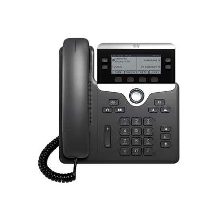 Cisco téléphone IP VoIP 2 lignes PoE multiplateforme avec micrologiciel(CP-7821-K9)